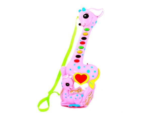 Гитара на батарейках, пластиковая, Зверушки, в пакете, Tongde
