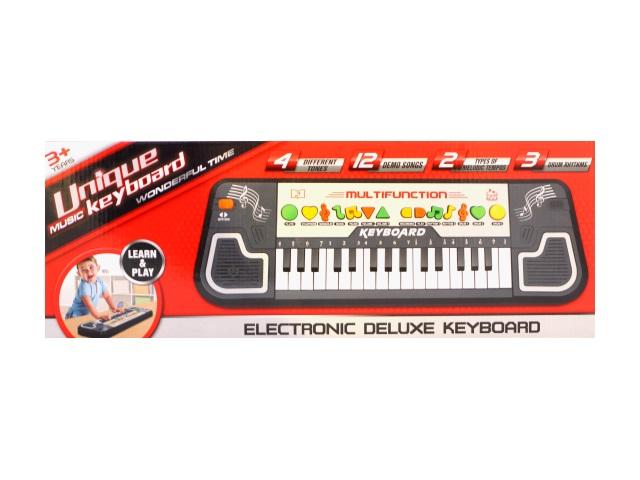 Пианино на батарейках, пластиковое, Electronic Deluxe Keyboard, в коробке, Tongde