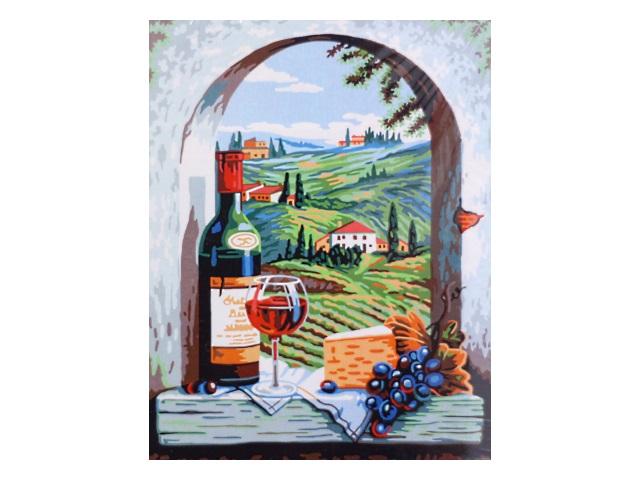 Картина по номерам, холст на подрамнике 40*50 см, в наборе кисти и акриловые краски, Итальянский натюрморт, Schreiber