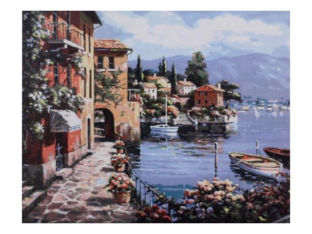 Картина по номерам, холст на подрамнике 40*50 см, в наборе кисти и акриловые краски, Море, Schreiber
