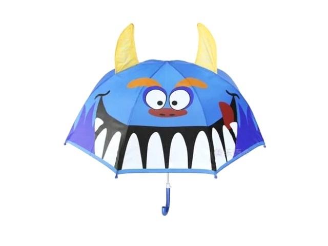 Зонт цветной 65 см, с ушками и свистком, в пакете