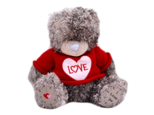 Мягкая игрушка, Медведь Тедди в свитере, 30 см, Ok Toys