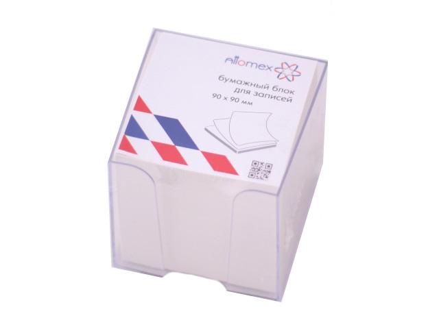 Бокс для бумаги 9*9*9 прозрачный + бумага белая не склеенная 500 листов, Attomex 2013405