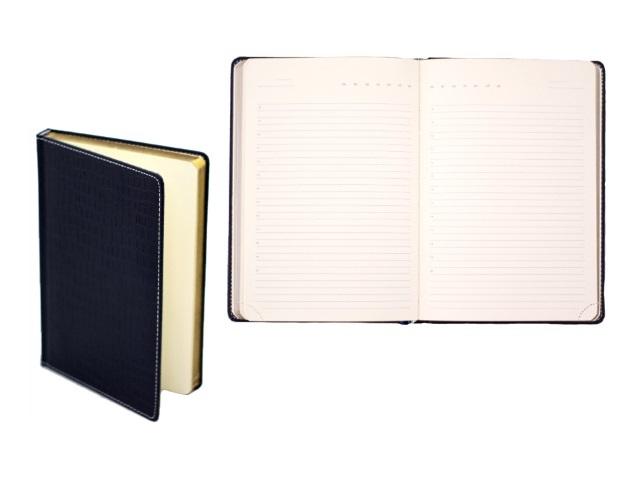 Ежедневник не датированный А5 320 листов кожзам Wild темносиний с кремовым блоком в упаковке, DeVente  2034422