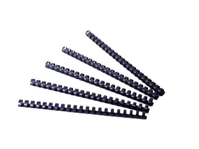 Пружины для брошюровки 16 мм пластиковые черные круглые 100 штук, DeVente 4125511