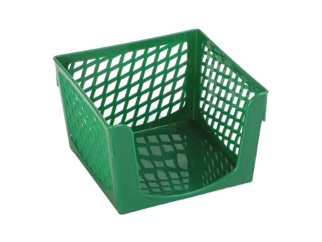 Бокс для бумаги 9*9*7 пластиковый зеленый Simple, DeVente 4105504
