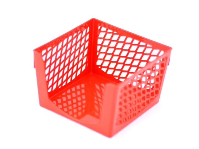 Бокс для бумаги  9*9*7 пластиковый красный Simple DeVente 4105500