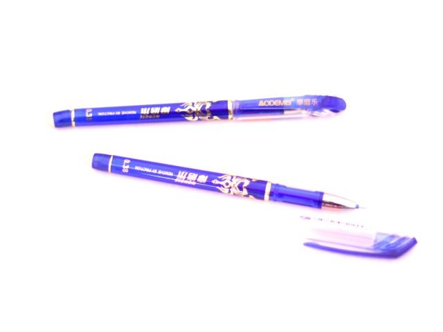 Ручка пиши-стирай гелевая синяя 0.38 мм Дракон, Basir GP-3176