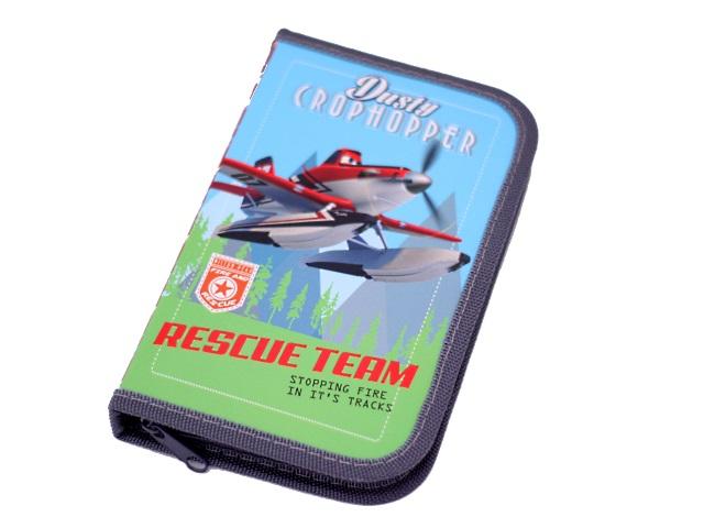 Пенал 1 отделение 1 отворот на молнии картонный Disney Самолеты-76, Prof Press ПН-0031