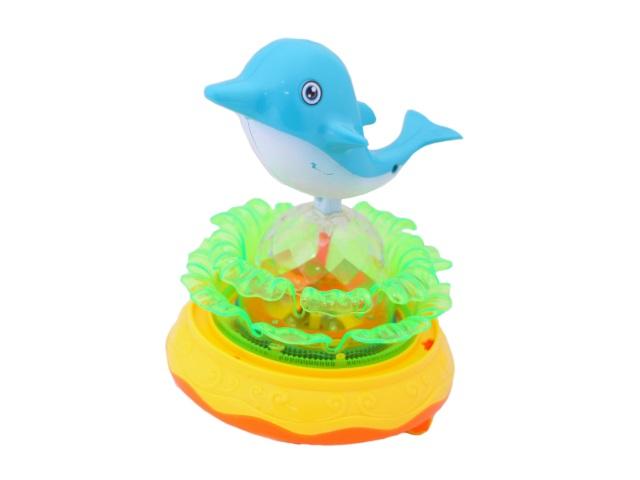 Музыкальная игрушка Дельфин на волнах, на батарейках, пластиковый, в коробке, Tongde