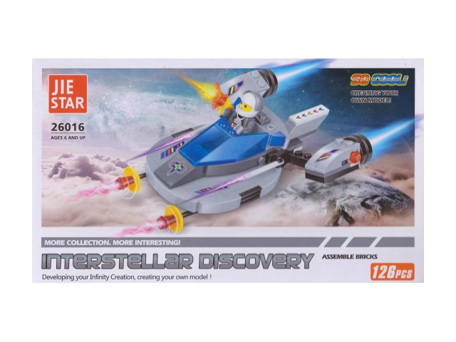 Конструктор 126дет Interstellar Discovery Jie Star в кор 26016/1
