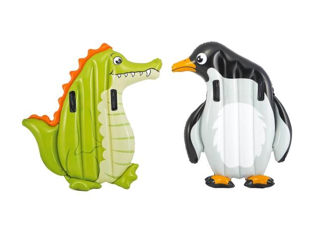 Матрац-плот 114*94 см с держателями Пингвин, Intex 58151