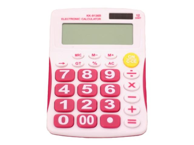 Калькулятор детский 12-разрядный цветной 15.5*11 см, КК-9136В