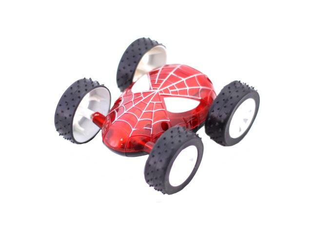 Машина пласт Перевертыш Человек паук свет в кор 11см