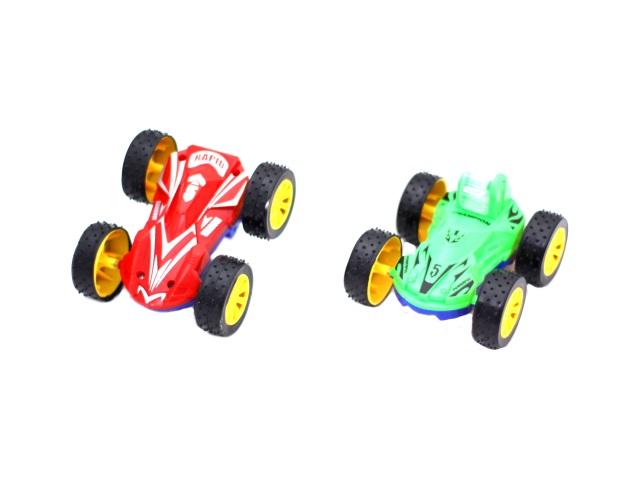 Машина пласт Перевертыш с доп колесом в кор 11см
