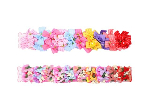 Резиночка набор 20 шт Бантики / Цветы в пакете