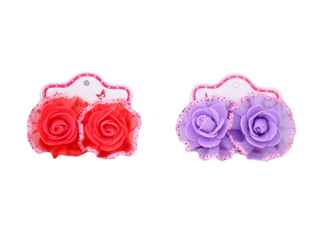 Резиночка набор 2 шт. Роза на блистере
