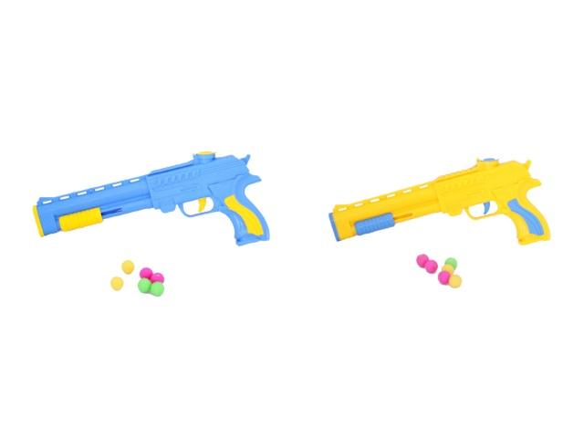 Пистолет 6 шариков пласт Toys в пак 32см
