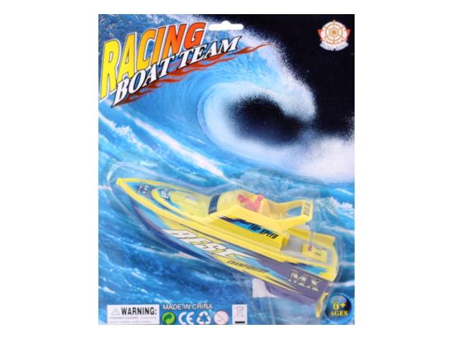 Катер на батарейках пластиковый Racing Boat Team, блистер, арт. 378-1