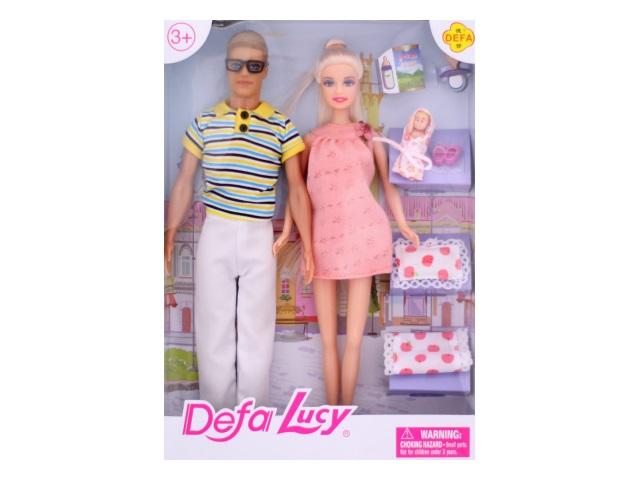 Набор кукол 3 шт. Барби Семья с аксессурами Defa Lucy в коробке, арт. 8349