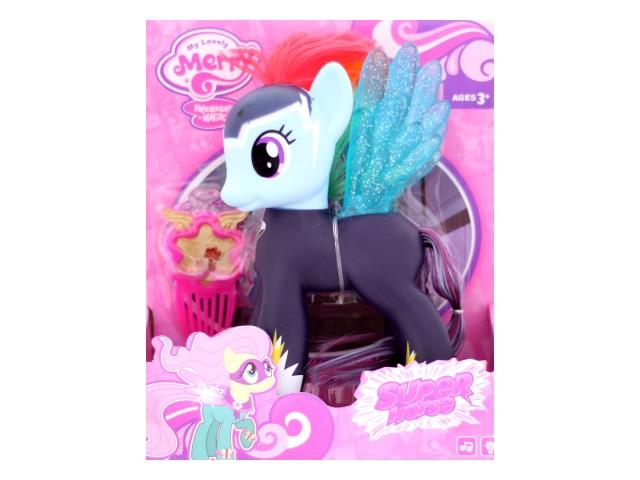 Пони резиновый на батарейках Super Horse, 20 см, звук, свет, с аксессуарами в коробке, Tongde, арт. 88274
