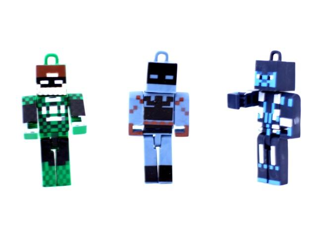Фигурки Герои Minecraft пласт в пак на листе 7см