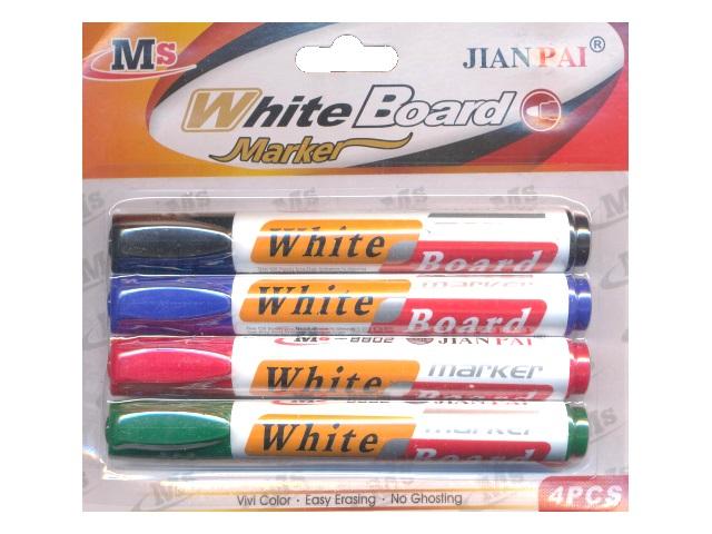 Маркеры для доски в наборе 4 цвета, круглые 5 мм, Basir МС-4069-4