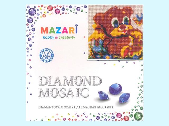 Алмазная вышивка (алмазная мозаика) 20*20 см Медвежонок, Mazari М-6422