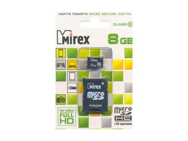 Флеш-карта Micro SD 8 Gb, Mirex