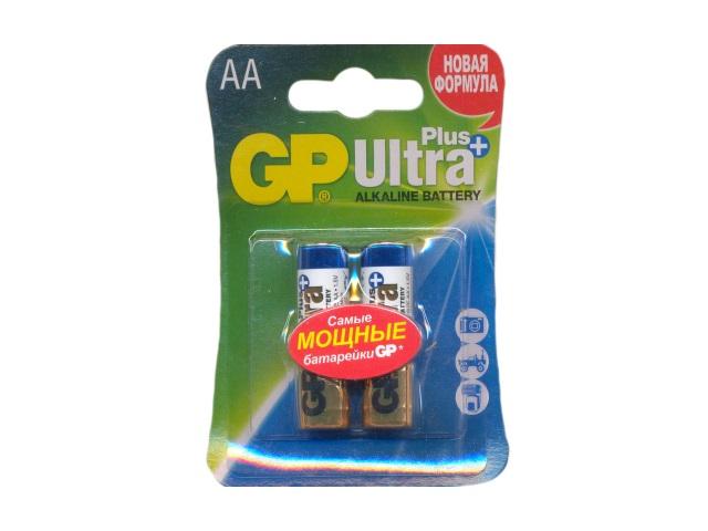 Батарейка, в наборе 2 шт. LR6 1.5V щелочная Ultra Plus, GP