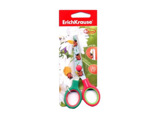 Ножницы 13 см детские с пластиковыми ручками Лето, Erich Krause EK-14600