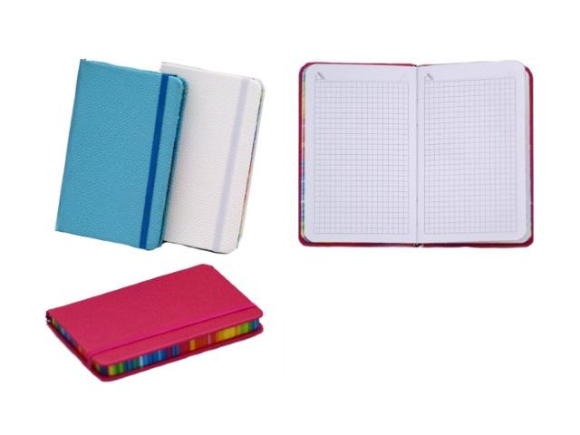 Блокнот на резинке А6 Перламутровый, твердая обложка 96 листов в клетку, цвета в ассортименте, Tukzar 3277