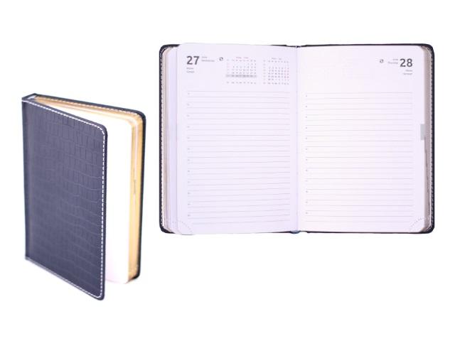 Ежедневник датированный 2018 г. В6 кожзам 176 листов Wild темно-синий в подарочной упаковке, кремовый блок золотой срез, DeVente 2033714
