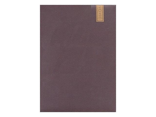 Еженедельник датированный 2018 г. А4 кожзам 64 листа темно-коричневый, DeVente 2036702