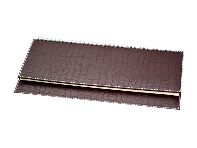 Планинг недатированный кожзам 64 листа Virando коричневый на спирали в подарочной упаковке, кремовый блок, DeVente 2039404
