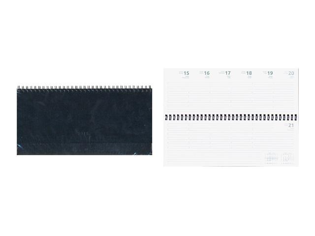 Планинг датированный 2018 г. кожзам 64 листа черный на спирали, Attomex 2039714