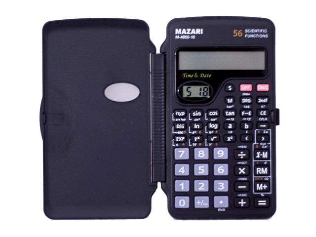 Калькулятор 10-разрядный черный 12.6*7.2 см Научный, Mazari М-4950-10