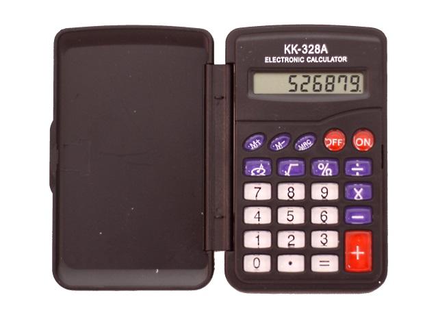 Калькулятор 8-разрядный черный 10*6.5 см, BasirKK-328A
