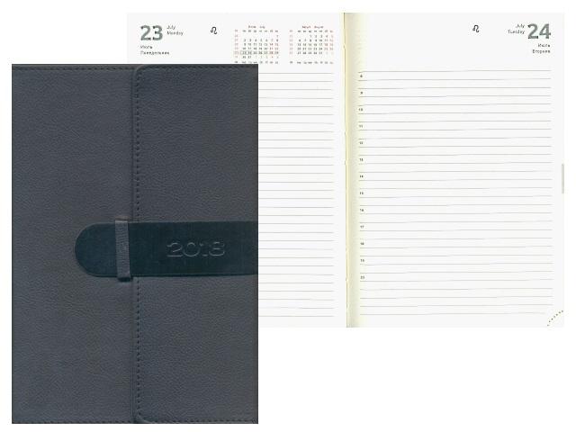 Ежедневник датированный 2018 г. А5 кожзам 176 листов черный, кремовый блок, в подарочной упаковке, DeVente 2032735