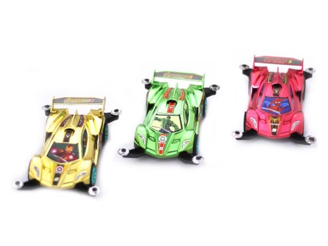 Машина инерционная пластиковая Гонка Avengers-2 15 см в коробке, арт. 399-99
