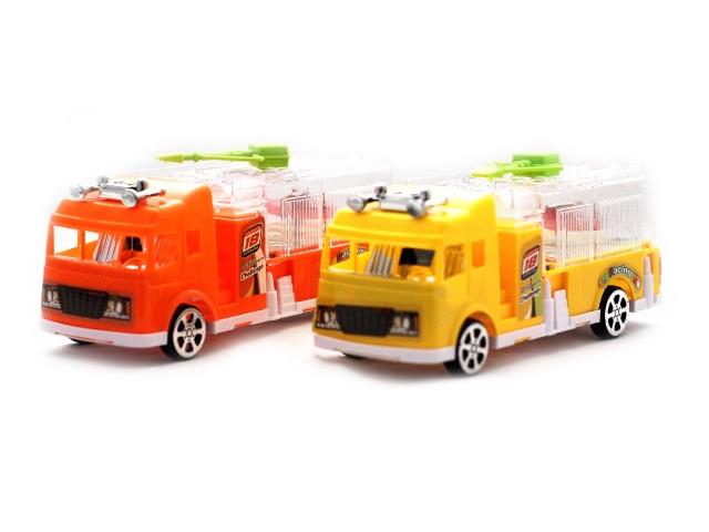 Заводная игрушка Пожарная машина со светом в пакете