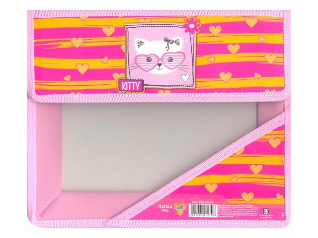 Папка для тетрадей А5 на липучке пластиковая Kitty, Пчелка ПМ-А5-03