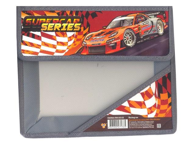 Папка для тетрадей А5 на липучке пластиковая Racing Car, Пчелка ПМ-А5-03