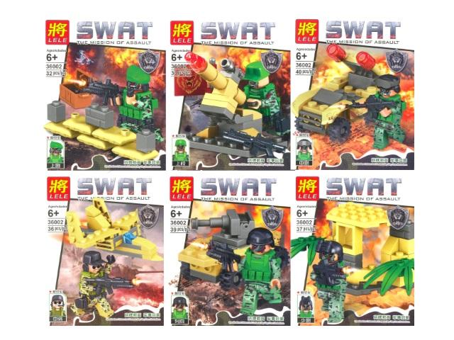 Конструктор 32-40 деталей SWAT в коробке, Lele 36002