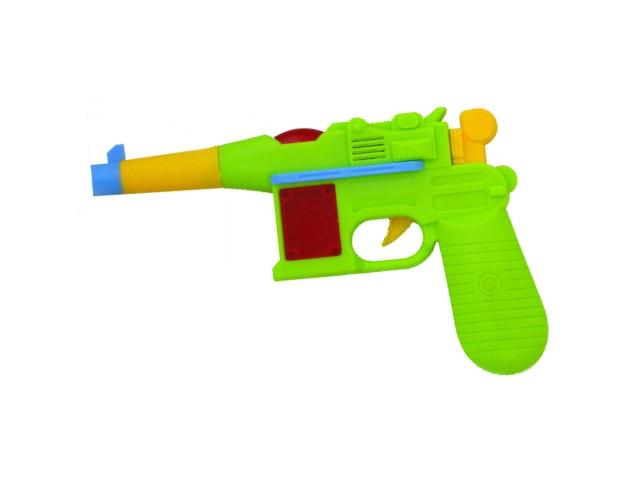 Пистолет пластиковый на батарейках Mini Pistol со звуком и светом в коробке