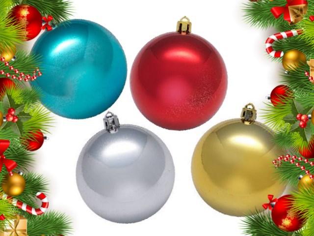Елочная игрушка Шарики D= 6 см, цвета в ассортименте, 12 шт. одного цвета в тубе