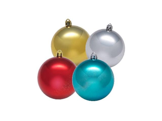 Елочная игрушка Шарики D= 3.5 см, цвета в ассортименте, 12 шт. одного цвета в тубе