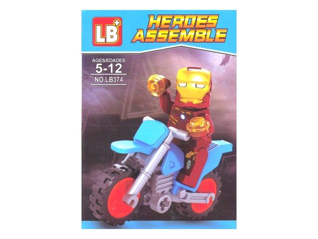 Конструктор 20 деталей Heroes Assemble в коробке, LB 374