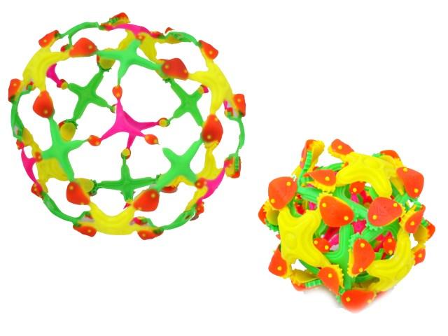 Шар - трансформер пластиковый Сфера цветная большая в пакете