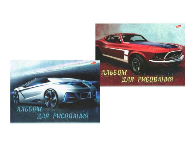 Альбом 40 листов, А4 клееный, Спортивное авто, Академия Групп